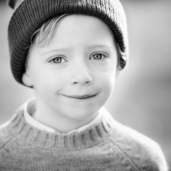 black&white portrait boy