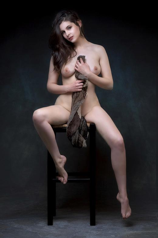 scarf - model is Lois Yuri