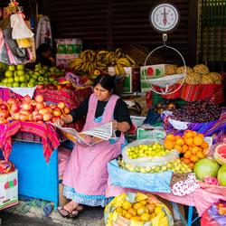 Marktkraam in Bolivia