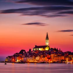 Gouden tijden in Rovinj, Kroatie.