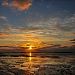 zonsondergang.