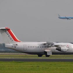 Landende vliegtuigen Schiphol