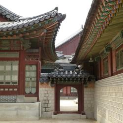 Poortje in het Keizerlijk Paleis Seoel (Korea)