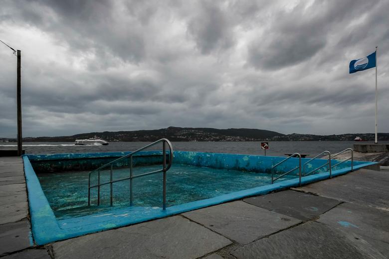 Verlaten zwembad - Helleneset, Bergen, Noorwegen