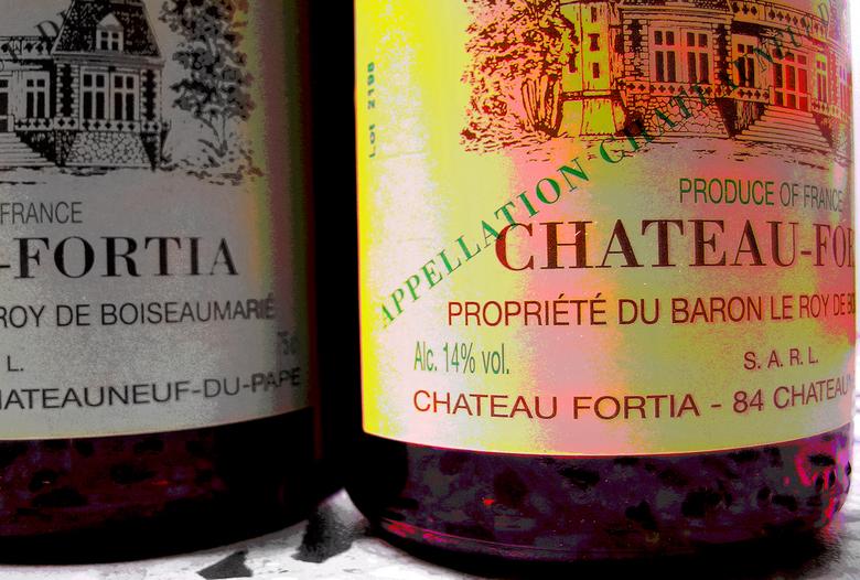 Spill the wine, Nelis - Chateau Fortia, 2000. beide bouteilles gisterenavond gefinished door Peter van der L.