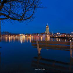 Hoogwater Deventer skyline