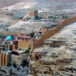 Klooster in woestijn Israel(Judea)