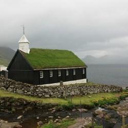 Kerk in Funningur, Faeröer