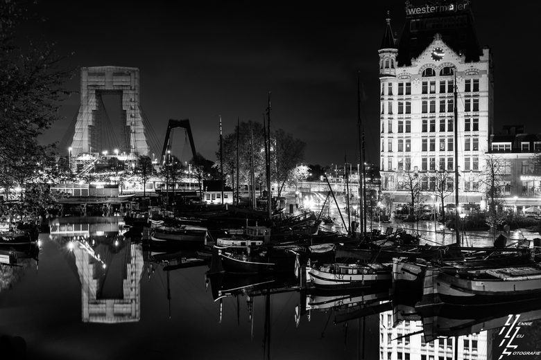 Avond walk Rotterdam- - Nightwalk Rotterdam, bij de oude haven.
