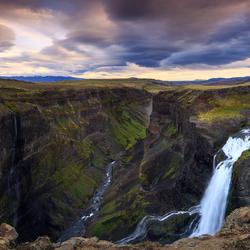 Storm in IJsland
