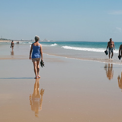 strand bij Monte Gordo in Portugal