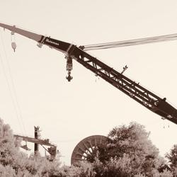 drijvende kraan bij Rozenburg