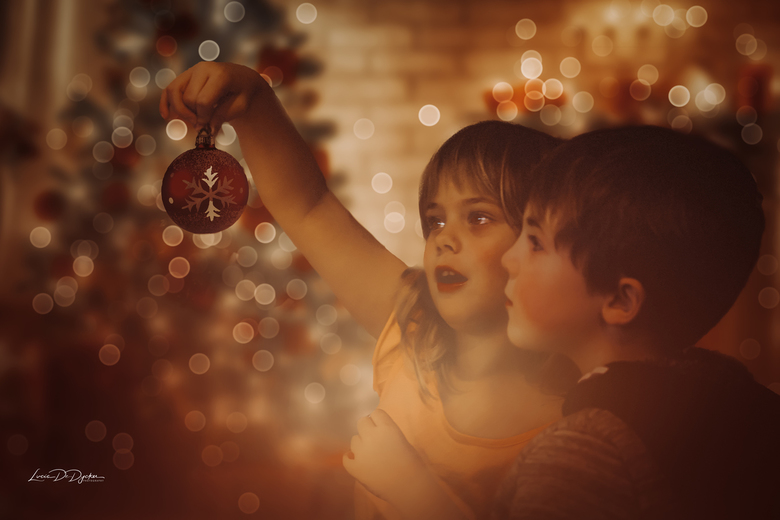 De eerste kerstsfeer foto  -