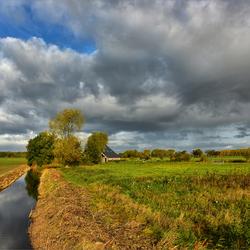 Platteland van noord Groningen.