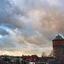 Kleurrijke wolken boven Gorinchem