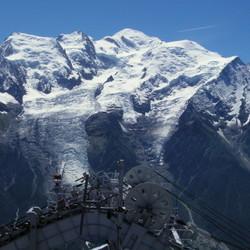 Panorama Mont Blanc en omliggende bergen