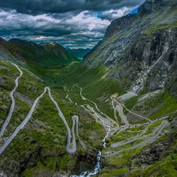 Uitzicht op de Trollstigen - Noorwegen