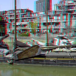 Bierhaven Rotterdam 3D anaglyph