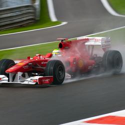 Felipe Massa in de regen