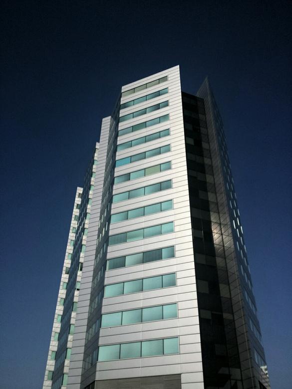 NS-gebouw vanuit mijn werk - Op vrijdagochtend met mijn telefoon gemaakt vanuit mijn werk