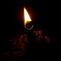 Incense flame