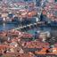 Aerial view Prague...