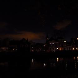 Gezicht op Delft - in de avond
