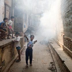 Alley nearby Manikarnika Burning Ghat