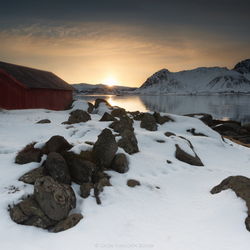 Zonsondergang op de Lofoten