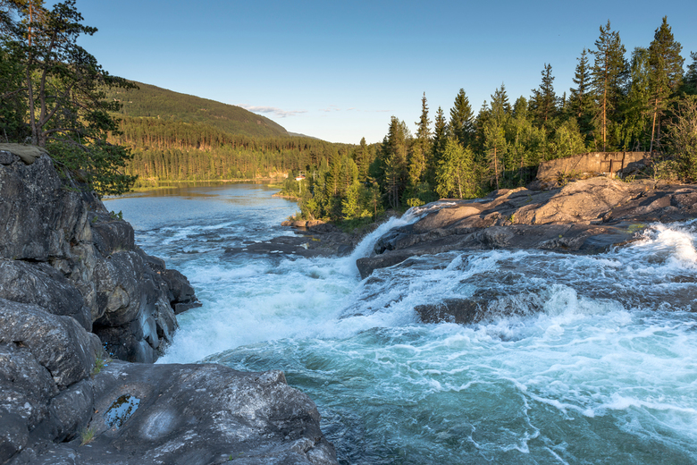 noorwegen waterval Leira 3