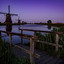 Kinderdijk at night