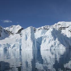 Gletsjer in Paradise Bay, Antarctica