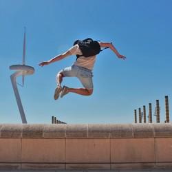 Springend de wereld over