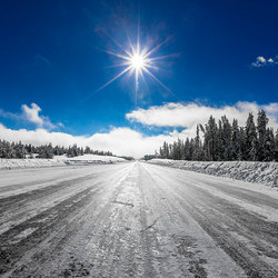 Icy road..