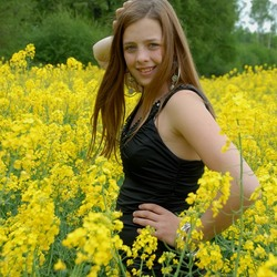 in a yello field