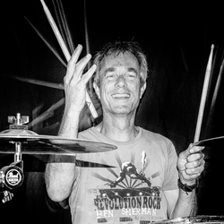 Ron C on drums