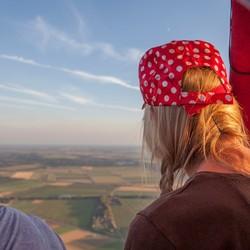 Prachtig uitzicht vanuit een luchtballon