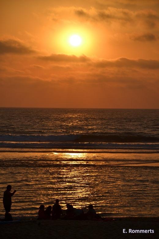 Sunset - Zonsondergang op het strand in zuid Frankrijk