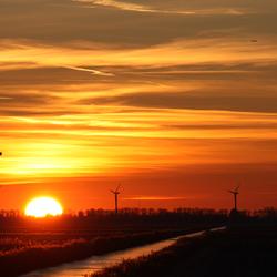 Zonsondergang Middenmeer