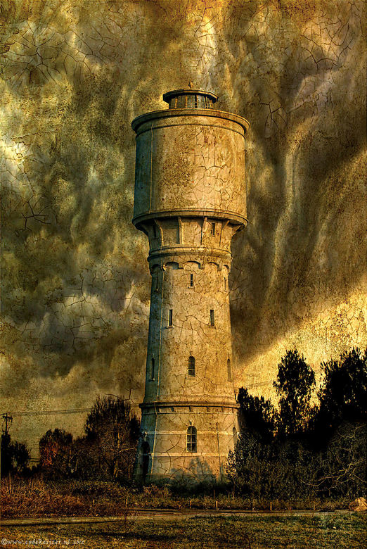 "Watertoren te Meppel - De watertoren te Meppel in een ""oud jasje"" dmv PSP"