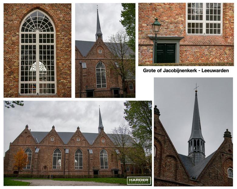 Collage Jacobijnenkerk-Leeuwarden - Vervolg op de wandeling door Leeuwarden. Collage Jacobijnenkerk-Leeuwarden.