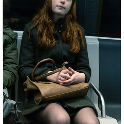 Girl without smartphone