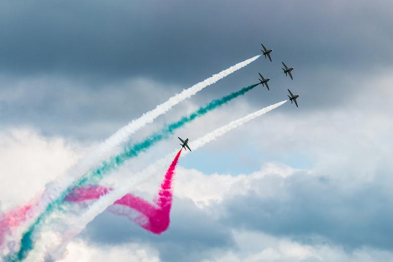 Saudi Hawks at Sanicole - In het kader van beter laat dan helemaal niet uploaden, hier nog een mooi shot van de Sanicole Airshow in Belgie