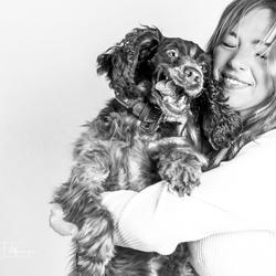 Hond Guusje met Robin
