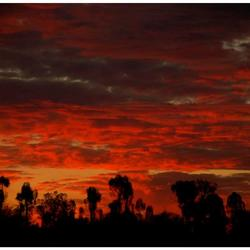 Australie zonsondergang
