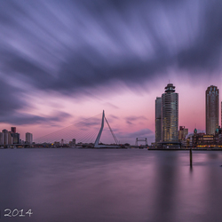 Dark clouds above Rotterdam