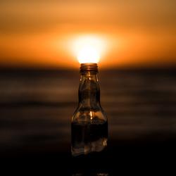 Zon uit een flesje