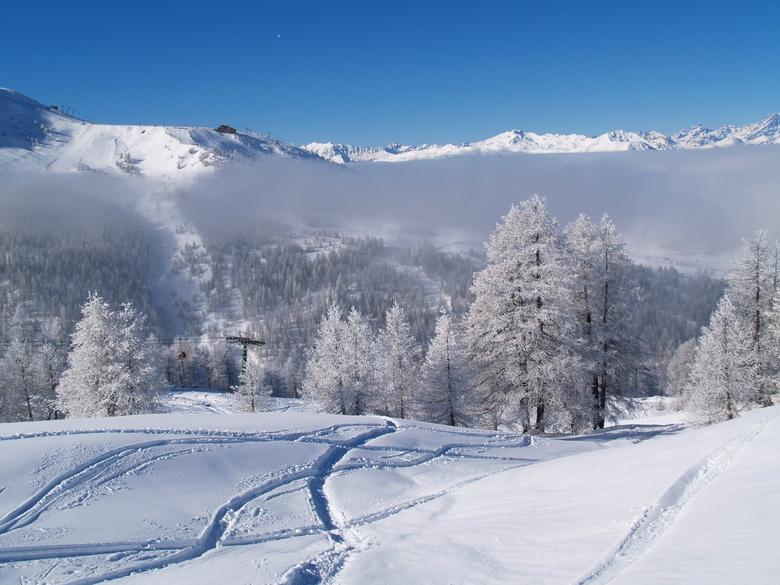 Winter in Sestrière - Winterlandschap in Sestrière (Torino in Italië)