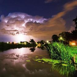 Lightning reflections