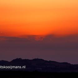 Zonsondergang vanaf Les Armengauds